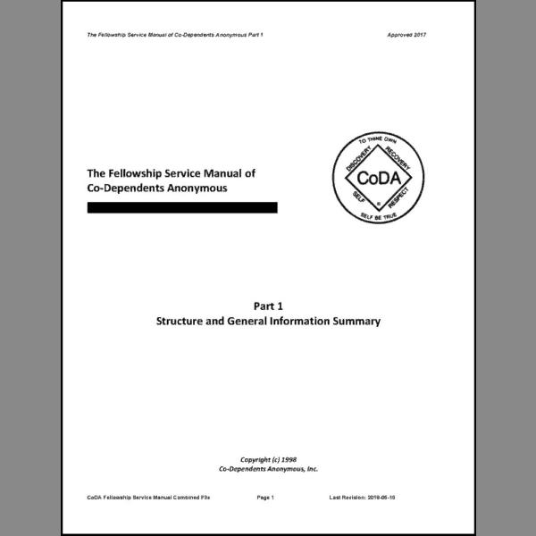 Fellowship Service Manual (CoDA Organization & Procedures)