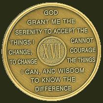 Sixteen Year Medallion
