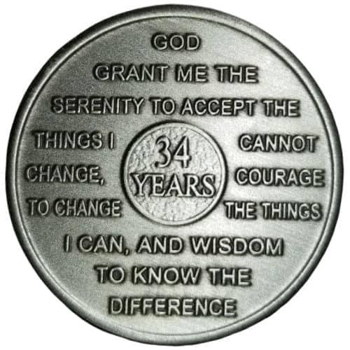 Thirty-four Year Medallion